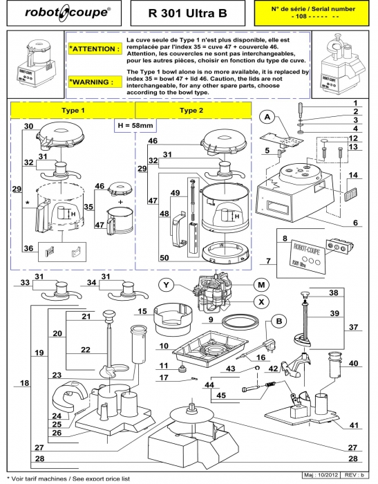 RC_R301_B_ULTRA_PARTS.700 robot coupe r301b ultra b food processor spare parts robot coupe Wiring Diagram for Robot Coupe R2 Dice at mifinder.co